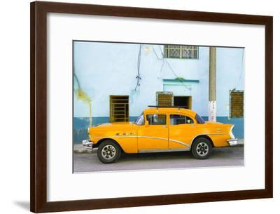 Cuba Fuerte Collection - Havana Classic American Orange Car-Philippe Hugonnard-Framed Photographic Print