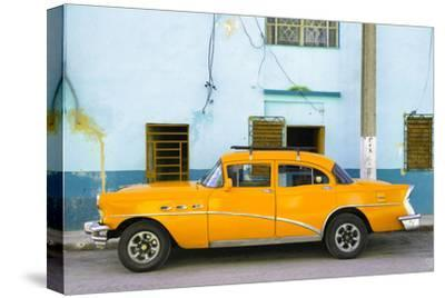 Cuba Fuerte Collection - Havana Classic American Orange Car-Philippe Hugonnard-Stretched Canvas Print