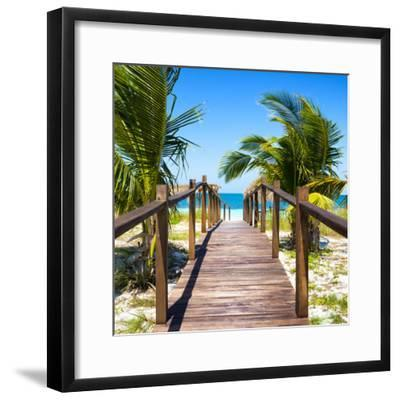 Cuba Fuerte Collection SQ - Wooden Jetty on the Beach-Philippe Hugonnard-Framed Photographic Print
