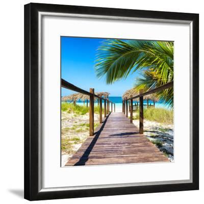 Cuba Fuerte Collection SQ - Way to the Beach-Philippe Hugonnard-Framed Photographic Print