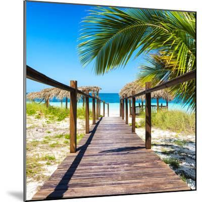 Cuba Fuerte Collection SQ - Way to the Beach-Philippe Hugonnard-Mounted Photographic Print