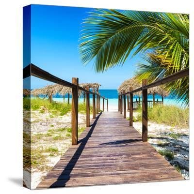 Cuba Fuerte Collection SQ - Way to the Beach-Philippe Hugonnard-Stretched Canvas Print
