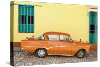 Cuba Fuerte Collection - Orange Classic Car in Trinidad-Philippe Hugonnard-Stretched Canvas Print