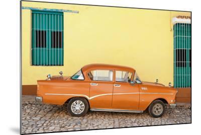 Cuba Fuerte Collection - Orange Classic Car in Trinidad-Philippe Hugonnard-Mounted Photographic Print