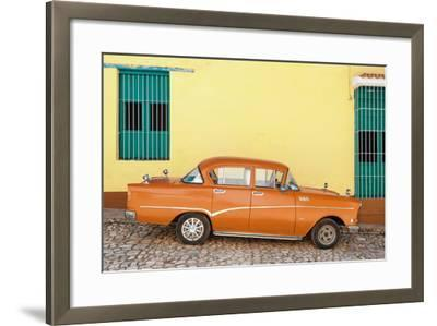 Cuba Fuerte Collection - Orange Classic Car in Trinidad-Philippe Hugonnard-Framed Photographic Print