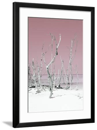 Cuba Fuerte Collection - Wild White Sand Beach II - Pastel Pink-Philippe Hugonnard-Framed Photographic Print