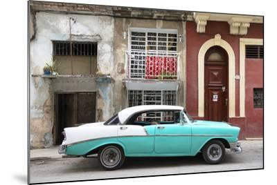 Cuba Fuerte Collection - Turquoise Classic Car in Havana-Philippe Hugonnard-Mounted Photographic Print