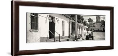 Cuba Fuerte Collection Panoramic BW - Quiet Street in Trinidad-Philippe Hugonnard-Framed Photographic Print