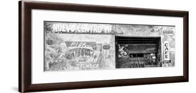 Cuba Fuerte Collection Panoramic BW - Cuban Street Advertising-Philippe Hugonnard-Framed Photographic Print