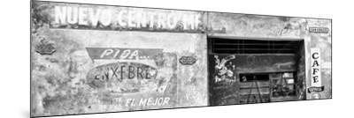 Cuba Fuerte Collection Panoramic BW - Cuban Street Advertising-Philippe Hugonnard-Mounted Photographic Print