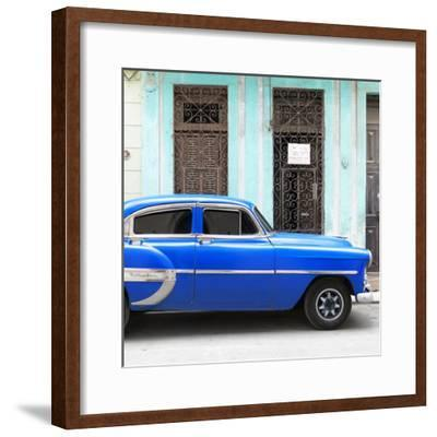 Cuba Fuerte Collection SQ - Bel Air Classic Blue Car-Philippe Hugonnard-Framed Photographic Print