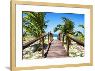 Cuba Fuerte Collection - Way to the Beach-Philippe Hugonnard-Framed Photographic Print