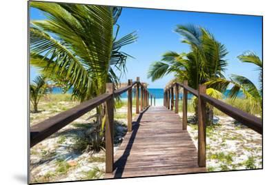 Cuba Fuerte Collection - Way to the Beach-Philippe Hugonnard-Mounted Photographic Print