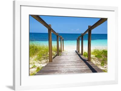 Cuba Fuerte Collection - Wooden Jetty on the Beach-Philippe Hugonnard-Framed Photographic Print