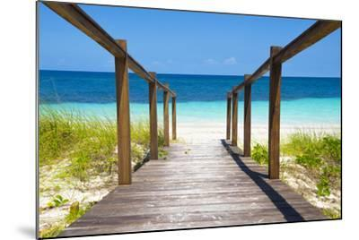 Cuba Fuerte Collection - Wooden Jetty on the Beach-Philippe Hugonnard-Mounted Photographic Print