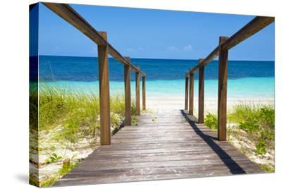 Cuba Fuerte Collection - Wooden Jetty on the Beach-Philippe Hugonnard-Stretched Canvas Print