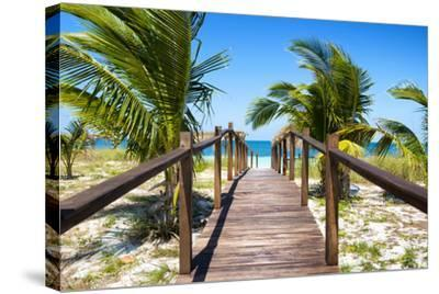 Cuba Fuerte Collection - Way to the Beach-Philippe Hugonnard-Stretched Canvas Print