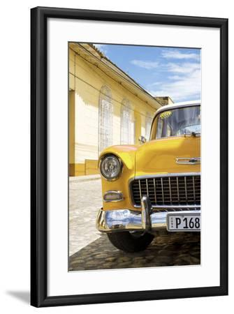Cuba Fuerte Collection - Cuban Yellow Car - 1955 Chevy-Philippe Hugonnard-Framed Photographic Print