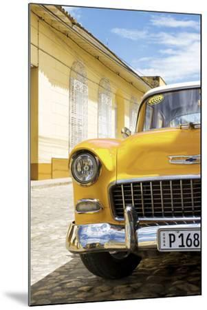 Cuba Fuerte Collection - Cuban Yellow Car - 1955 Chevy-Philippe Hugonnard-Mounted Photographic Print