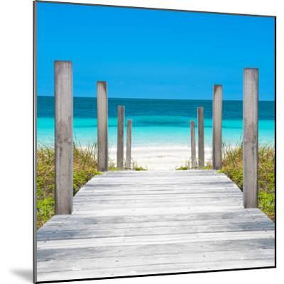 Cuba Fuerte Collection SQ - Boardwalk on the Beach-Philippe Hugonnard-Mounted Photographic Print