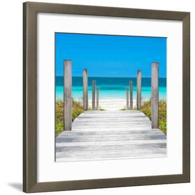 Cuba Fuerte Collection SQ - Boardwalk on the Beach-Philippe Hugonnard-Framed Photographic Print