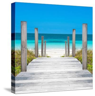 Cuba Fuerte Collection SQ - Boardwalk on the Beach-Philippe Hugonnard-Stretched Canvas Print