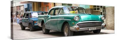 Cuba Fuerte Collection Panoramic - Cuban Taxi in Havana II-Philippe Hugonnard-Stretched Canvas Print
