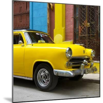 Cuba Fuerte Collection SQ - Close-up of Yellow Taxi of Havana IV-Philippe Hugonnard-Mounted Photographic Print
