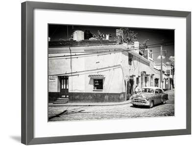 Cuba Fuerte Collection B&W - American Car in Trinidad-Philippe Hugonnard-Framed Photographic Print