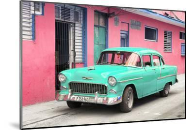 Cuba Fuerte Collection - Beautiful Classic American Turquoise Car-Philippe Hugonnard-Mounted Photographic Print