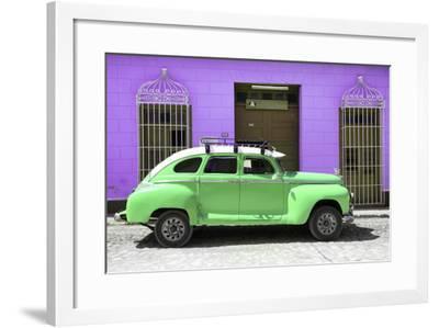 Cuba Fuerte Collection - Green Vintage Car Trinidad-Philippe Hugonnard-Framed Photographic Print