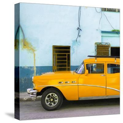 Cuba Fuerte Collection SQ - Havana Classic American Orange Car-Philippe Hugonnard-Stretched Canvas Print