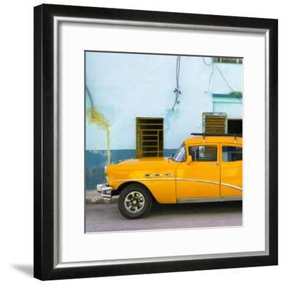Cuba Fuerte Collection SQ - Havana Classic American Orange Car-Philippe Hugonnard-Framed Photographic Print