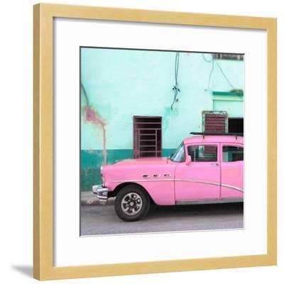 Cuba Fuerte Collection SQ - Havana Classic American Pink Car-Philippe Hugonnard-Framed Photographic Print