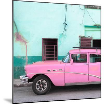 Cuba Fuerte Collection SQ - Havana Classic American Pink Car-Philippe Hugonnard-Mounted Photographic Print