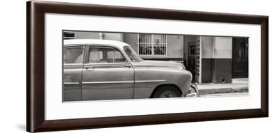 Cuba Fuerte Collection Panoramic BW - Vintage Car of Havana-Philippe Hugonnard-Framed Photographic Print