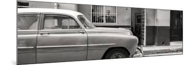 Cuba Fuerte Collection Panoramic BW - Vintage Car of Havana-Philippe Hugonnard-Mounted Photographic Print