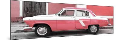 Cuba Fuerte Collection Panoramic - American Classic Car White and Pink-Philippe Hugonnard-Mounted Photographic Print