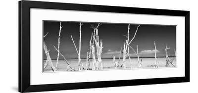Cuba Fuerte Collection Panoramic BW - Ocean Wild Nature-Philippe Hugonnard-Framed Photographic Print