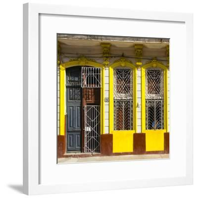 Cuba Fuerte Collection SQ - 708 Street Yellow Facade-Philippe Hugonnard-Framed Photographic Print