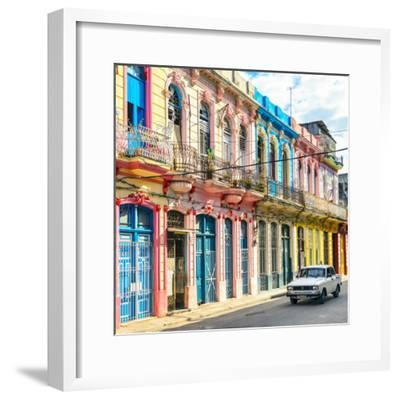 Cuba Fuerte Collection SQ - Colorful Facades in Havana-Philippe Hugonnard-Framed Photographic Print