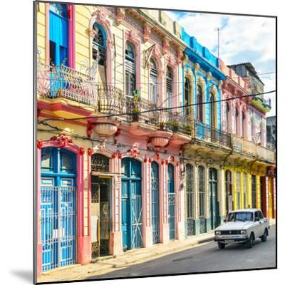 Cuba Fuerte Collection SQ - Colorful Facades in Havana-Philippe Hugonnard-Mounted Photographic Print