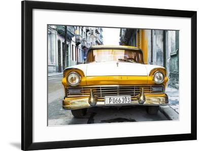 Cuba Fuerte Collection - Old Ford Orange Car-Philippe Hugonnard-Framed Photographic Print