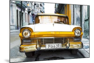 Cuba Fuerte Collection - Old Ford Orange Car-Philippe Hugonnard-Mounted Photographic Print
