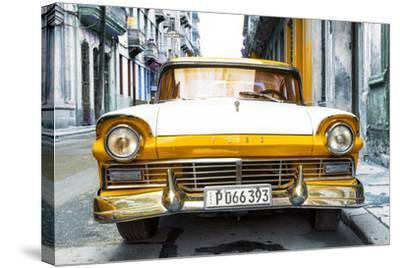 Cuba Fuerte Collection - Old Ford Orange Car-Philippe Hugonnard-Stretched Canvas Print