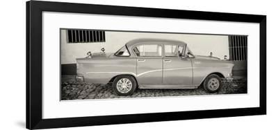 Cuba Fuerte Collection Panoramic BW - Classic Car in Trinidad-Philippe Hugonnard-Framed Photographic Print