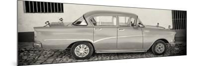 Cuba Fuerte Collection Panoramic BW - Classic Car in Trinidad-Philippe Hugonnard-Mounted Photographic Print