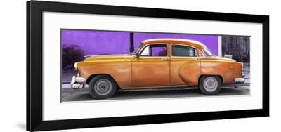 Cuba Fuerte Collection Panoramic - Beautiful Retro Orange Car-Philippe Hugonnard-Framed Photographic Print