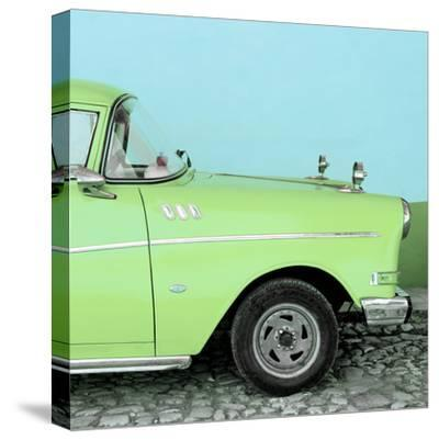 Cuba Fuerte Collection SQ - Close-up of Retro Lime Green Car-Philippe Hugonnard-Stretched Canvas Print