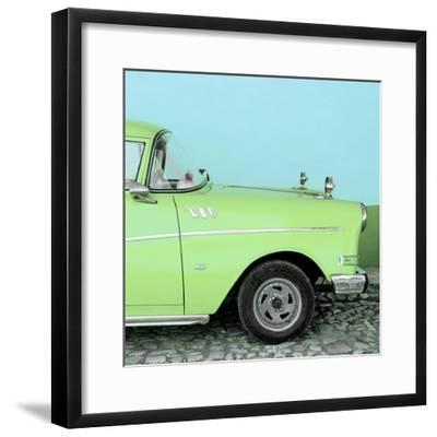 Cuba Fuerte Collection SQ - Close-up of Retro Lime Green Car-Philippe Hugonnard-Framed Photographic Print